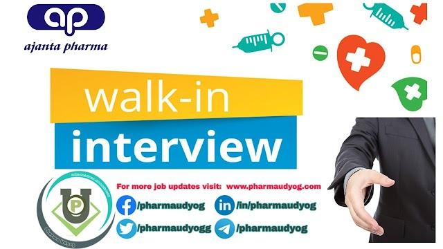 Ajanta Pharma   Walk-in for Maintenance on 27 Jan 2020   Pharma Jobs in Pitampur