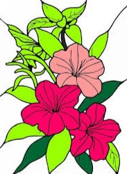 bunga melati kartun