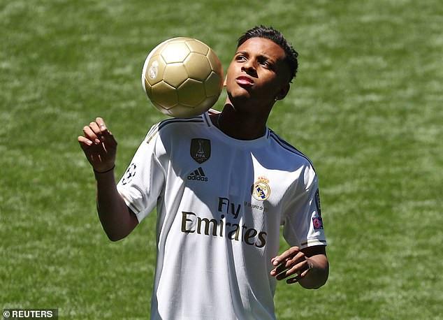 Real Madrid unveils Brazilian forward Rodrygo following £40m switch from Santos