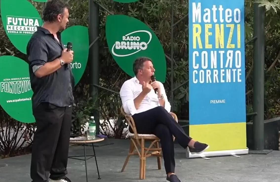 Matteo Renzi in Verisiliana per presentare il suo libro
