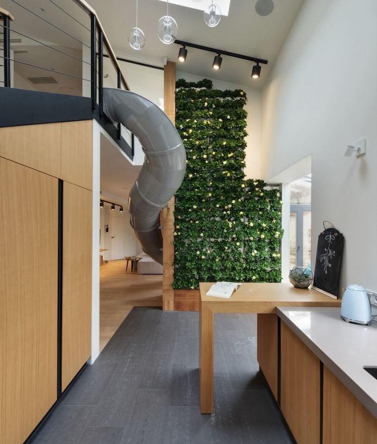 jardín vertical en un apartamento