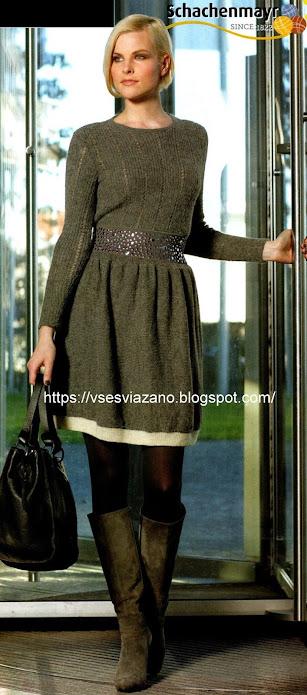 Парижский шик-своими руками! Комплект: пуловер+юбка=платье.