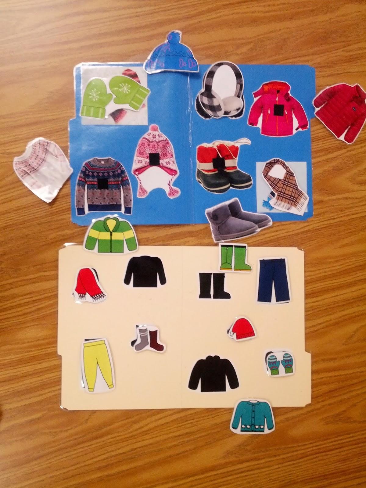 Teach Early Autism Winter Clothing File Folder Freebie