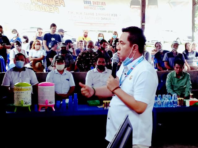 Warga Masyarakat Kecamatan Paku Antusias Hadiri Kampanye Dialogis Timses Paslon Nomor Urut 01