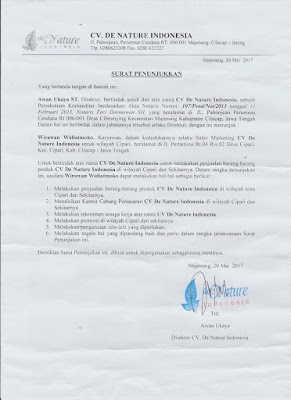 surat penujukan