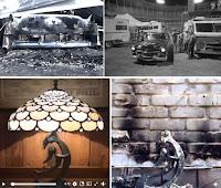 Neil Youngs verbranntes Haus und Auto