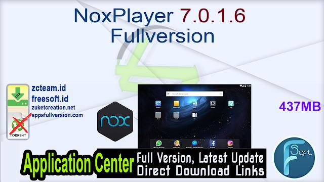 NoxPlayer 7.0.1.6 Fullversion