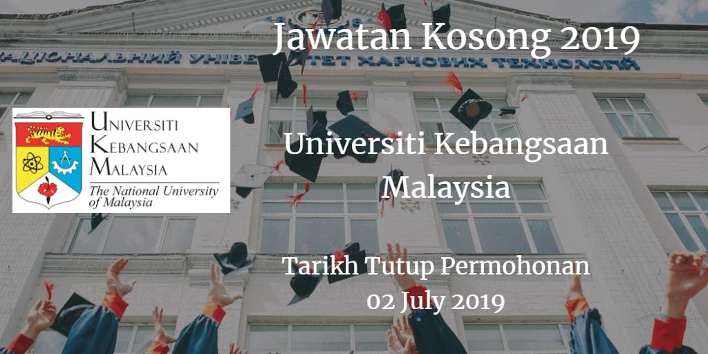 Jawatan Kosong UKM 02 July 2019