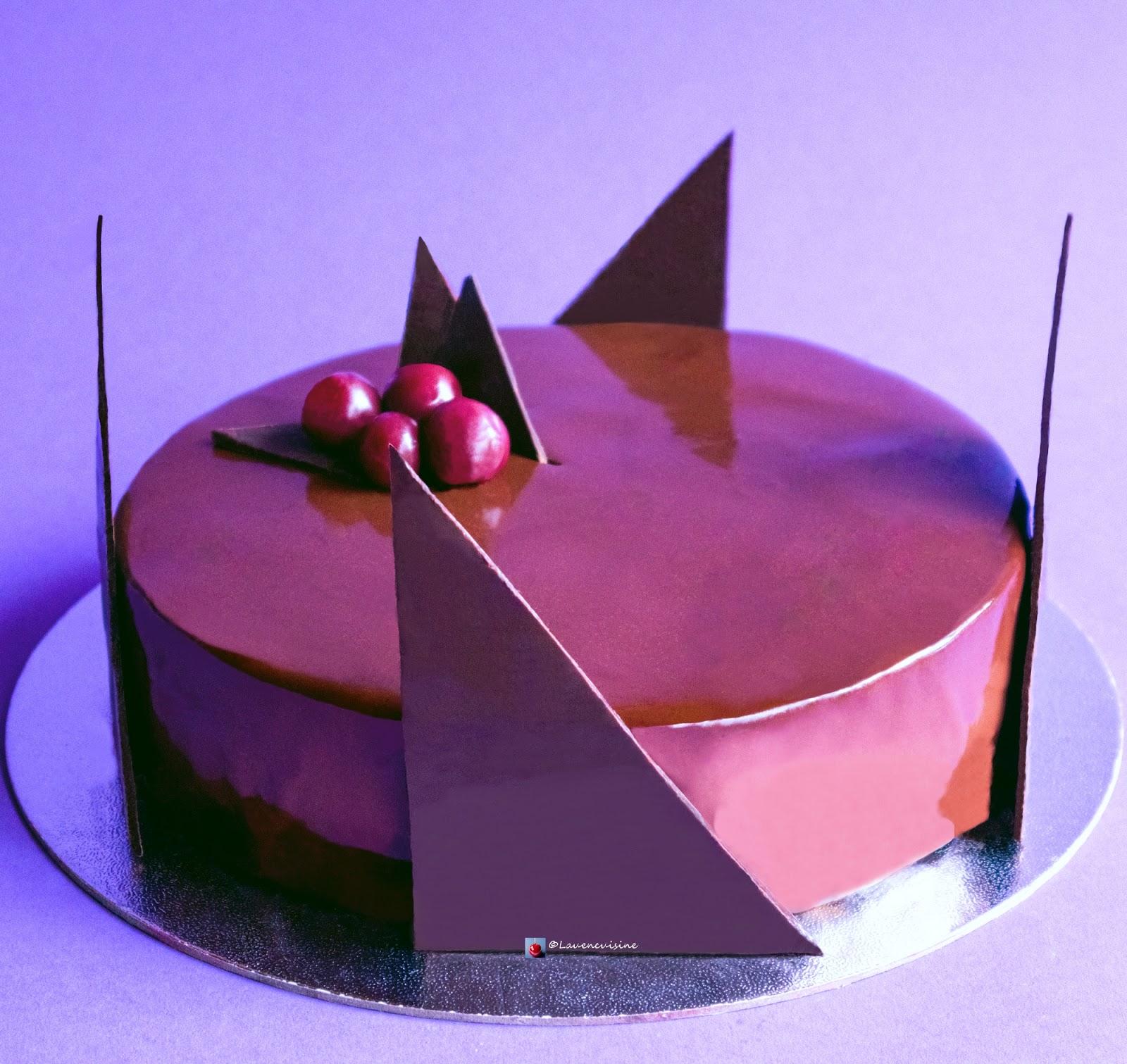 Entremets façon forêt noire mousse au chocolat Lau en cuisine