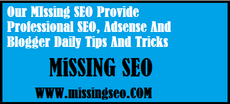 Our MIssing SEO Provide Professional SEO, Adsense And Blogger Daily Tips And Tricks.-www.missingseo.com