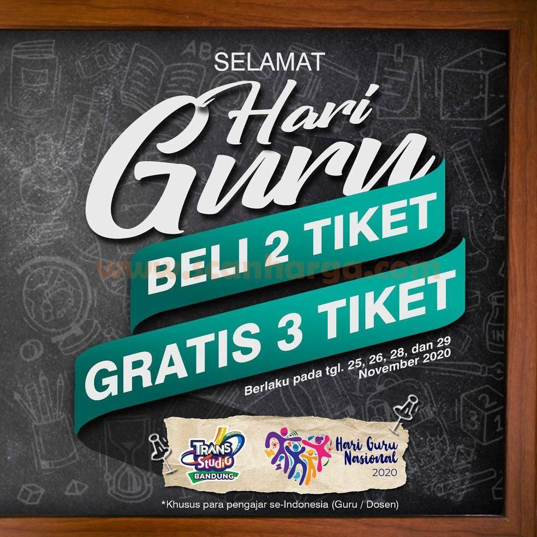 Promo Trans Studio Bandung Khusus Hari Guru Nasional 25 - 29 November 2020