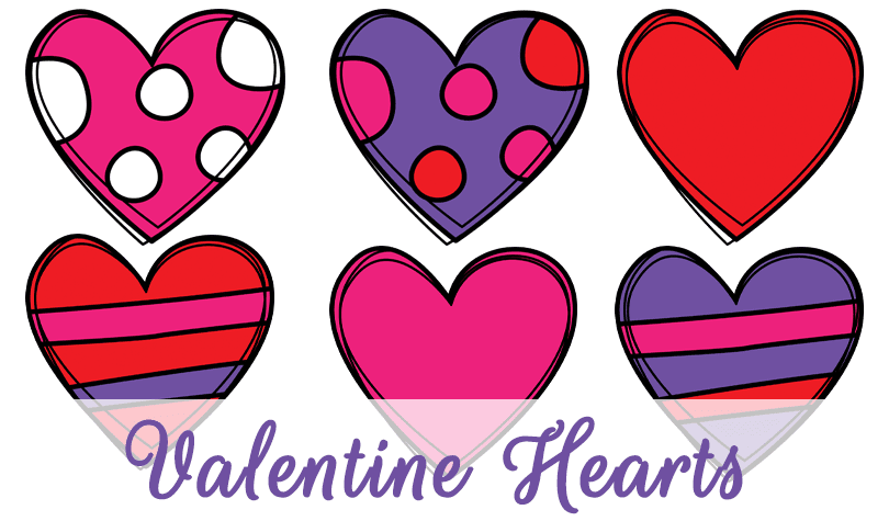 Freebie Valentine Hearts Clipart