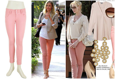 Baby pink colour, nude colours, Pink jeans