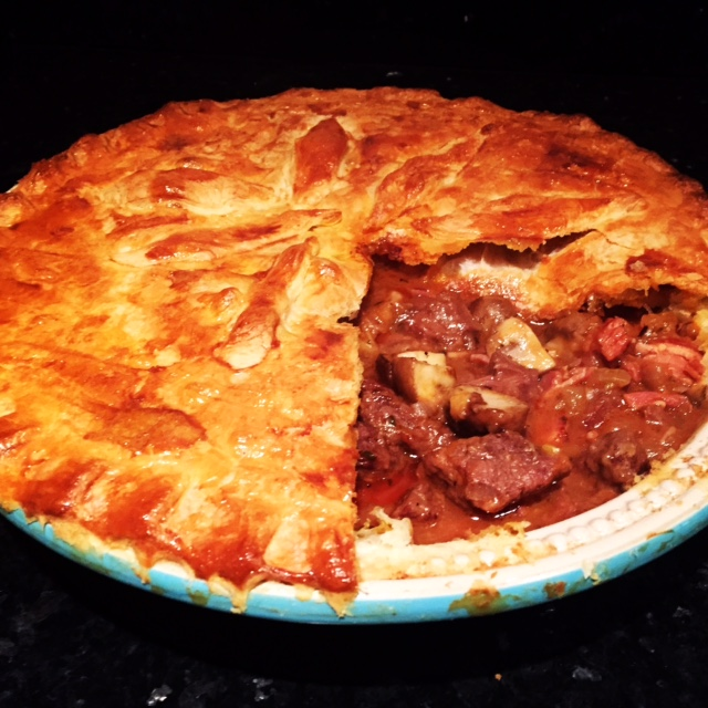 Steak, Ale & Stilton Pie