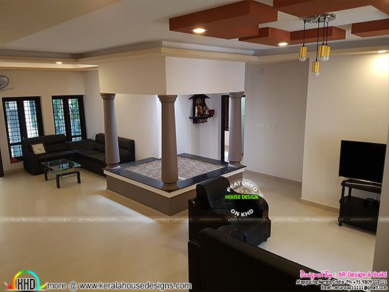 Finished Kerala home interior