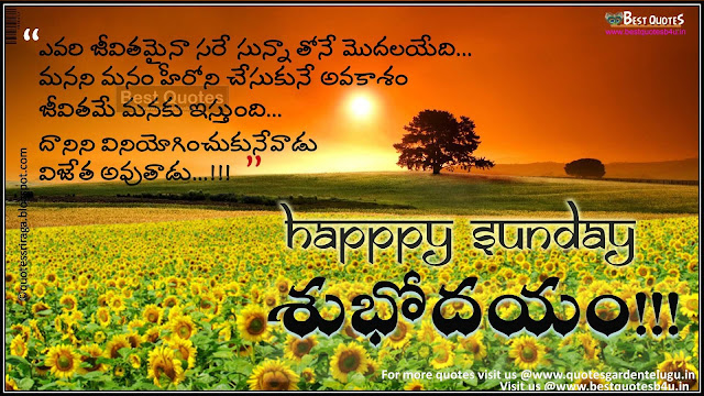 happy sunday telugu sms greetings