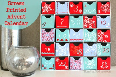 screen printed advent calendar is easy to make