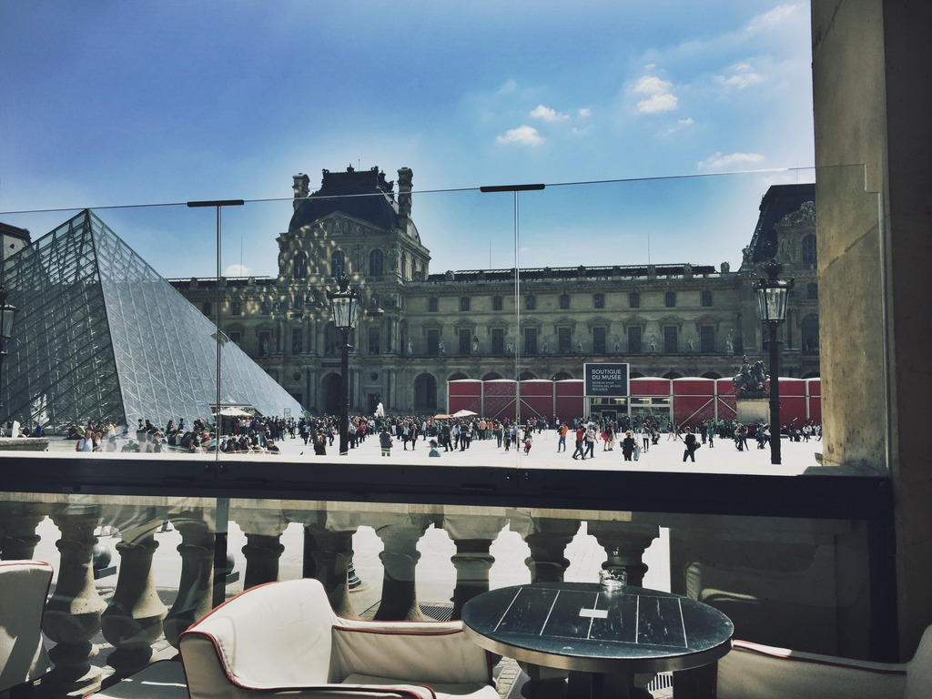 Cafe Marly View Louvre Paris