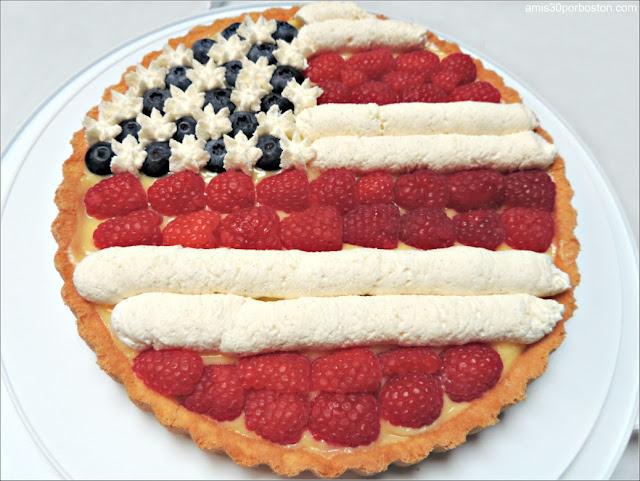 Memorial Day: Tarta Bandera Americana de Frambuesas y Arándanos
