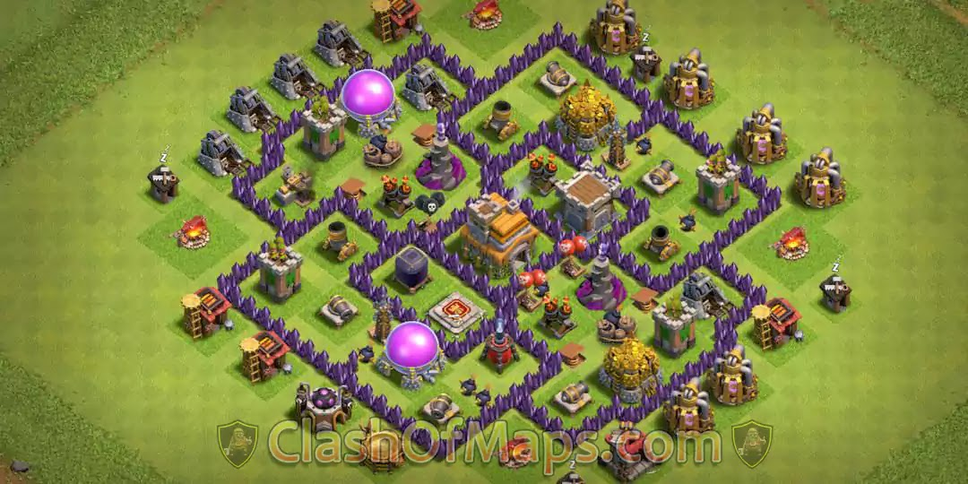 New Best Th7 Base Town Hall 7 Base Hybrid Farming With Copy Link Clash Of Clans