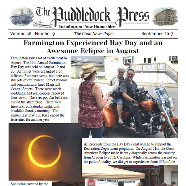 The September issue of the Puddledock Press is available now!