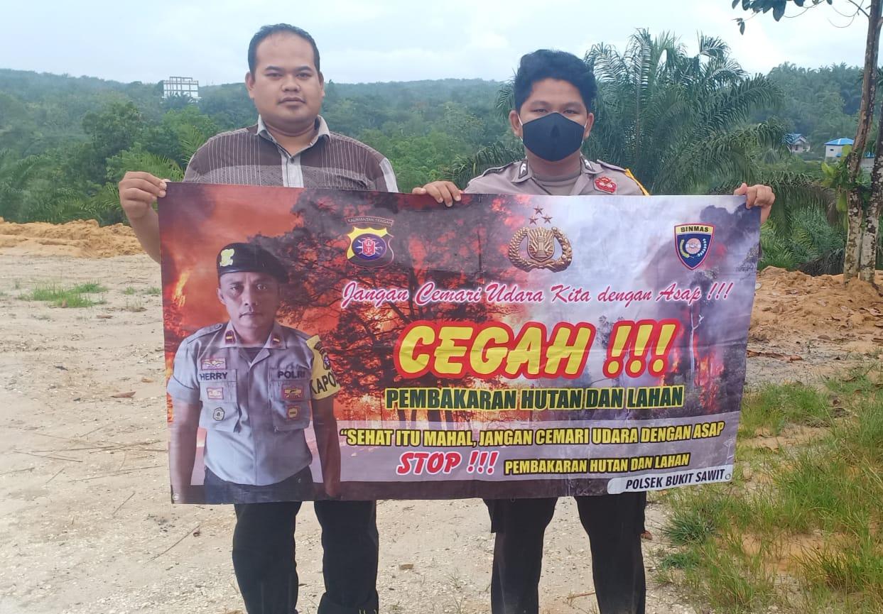 Cegah Karhutla, Anggota Polsek Bukit Sawit Cek Titik Rawan Terjadinya Karhutla