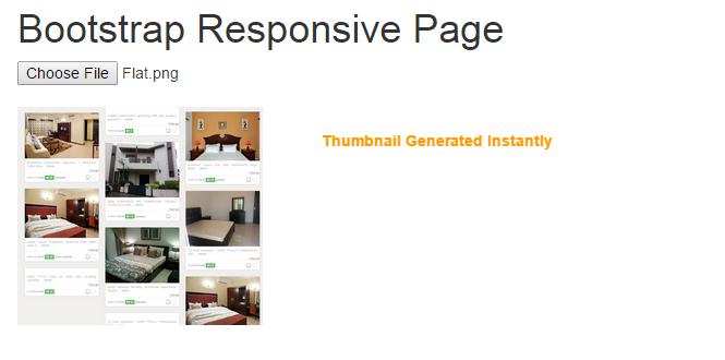 Instant Thumbnail generation using Javascript - File Upload