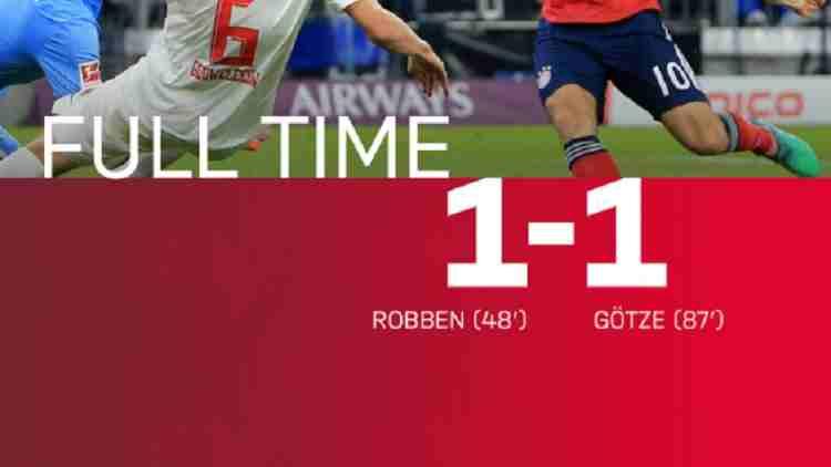 Hasil Bayern Munich vs FC Augsburg Skor Akhir 1-1