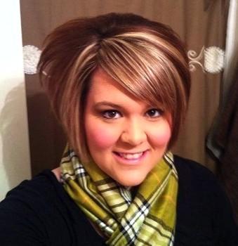 Potongan rambut pendek wanita gemuk bouffant