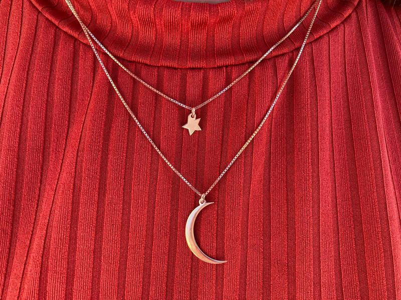 Collar luna estrella