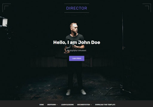 Director Blogger Template Free Download