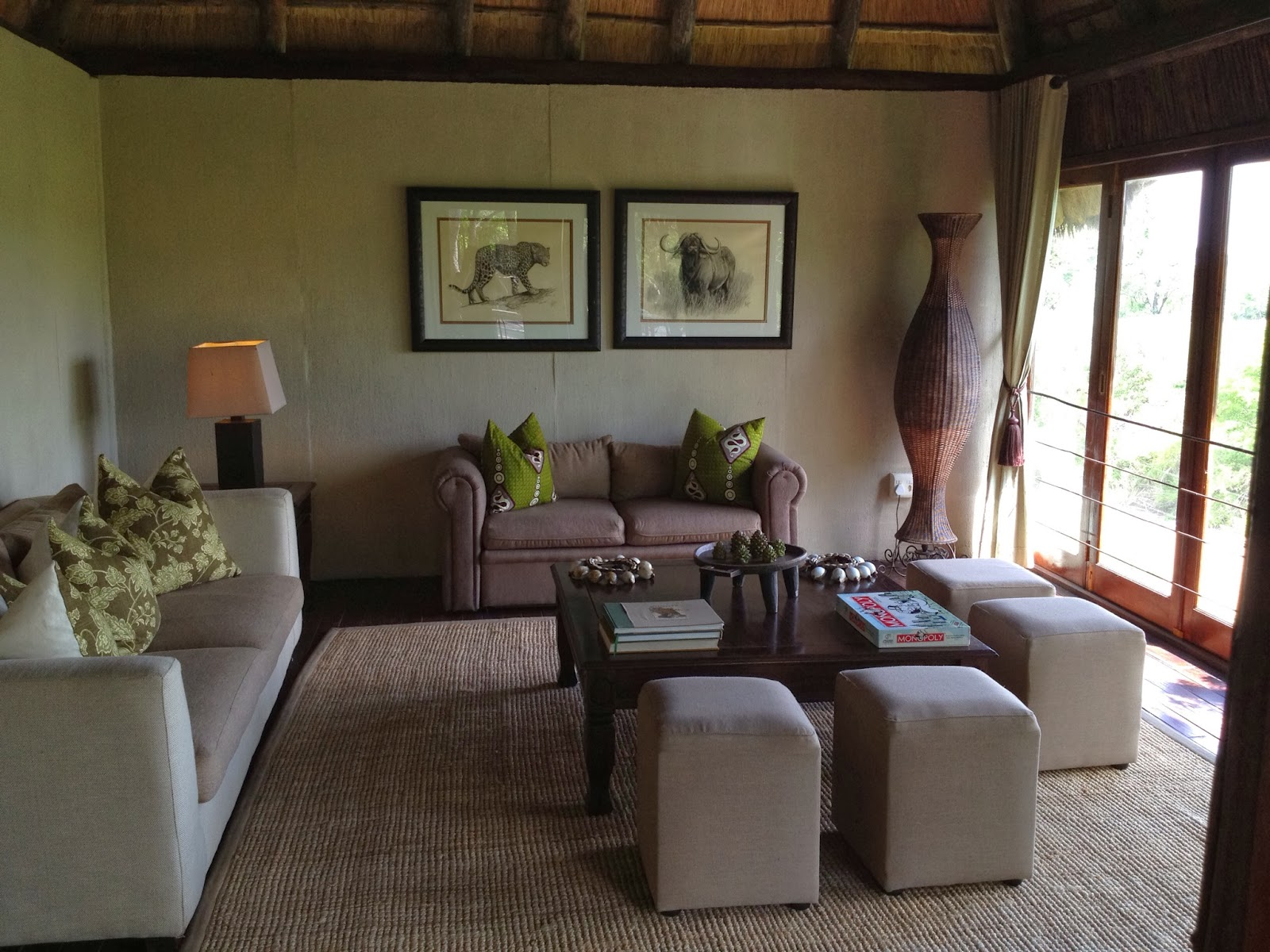 Sabi Sands - Our private living room at Simbambili Game Lodge