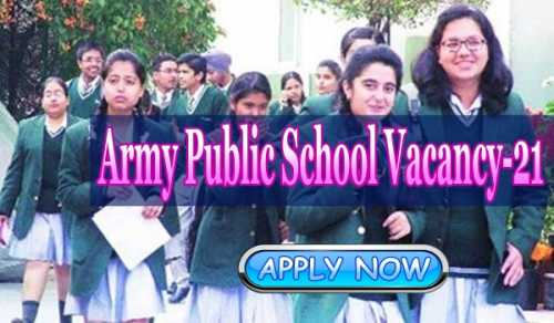 Army Public School vacancy 2020