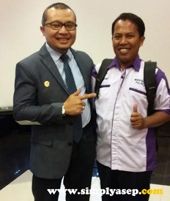 SELFIE :  Penulis berkesempatan foto dengan Bapak dr.H.M Tsani Musyafa M.Kes, SpOT yang menjadi pembicara utama di Health Seminar Milagros Perdana di Kota Pontianak  Foto Istimewa