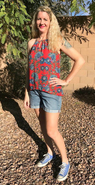 Stitch Fix #29 Review - January 2017 - Collective Concepts Krissa Keyhole Halter Blouse