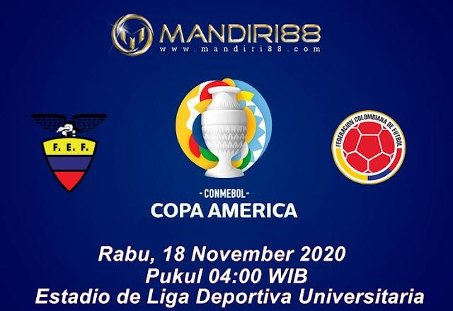 Prediksi Ekuador Vs Kolombia, Rabu 18 November 2020 Pukul 04.00 WIB @ Mola TV