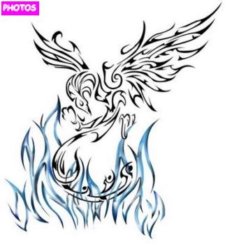 tribal phoenix tattoo designs phoenix tattoo. Black Bedroom Furniture Sets. Home Design Ideas