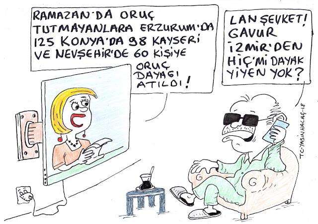 ramazan oruç dayak karikatür