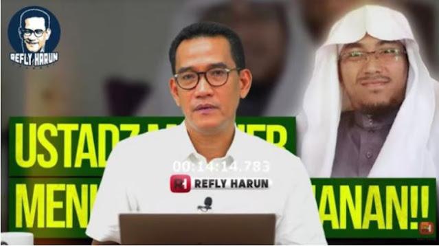Tak Habis Fikir Ustadz Maaher Ditahan sampai Meninggal, Refly: Apa sih Kejahatannya?