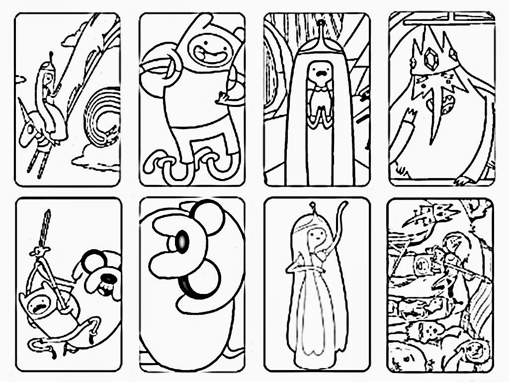 Cartoons Free Printable Coloring Pages Adventure Time Coloring