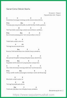 chord lagu surat cinta untuk starla hal 1 virgoun
