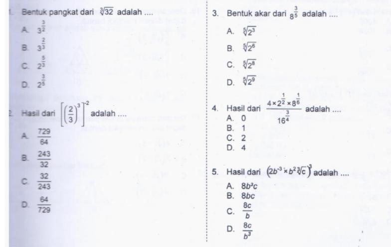 gambar soal pat matematika kelas 9 2021