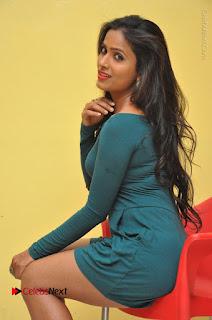 Telugu Actress Prasanthi Stills in Green Short Dress at Swachh Hyderabad Cricket Press Meet  0072.JPG