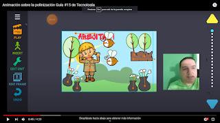 Animación sobre la polinización de las abejas usando drawing cartoons 2