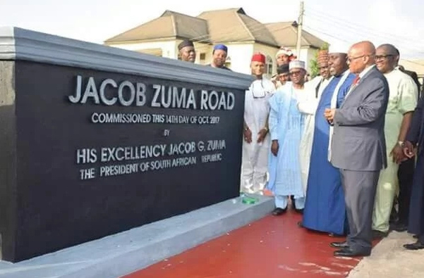 Image result for Zuma statue in Nigeria