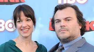 Tanya Haden with her husband Jack Black