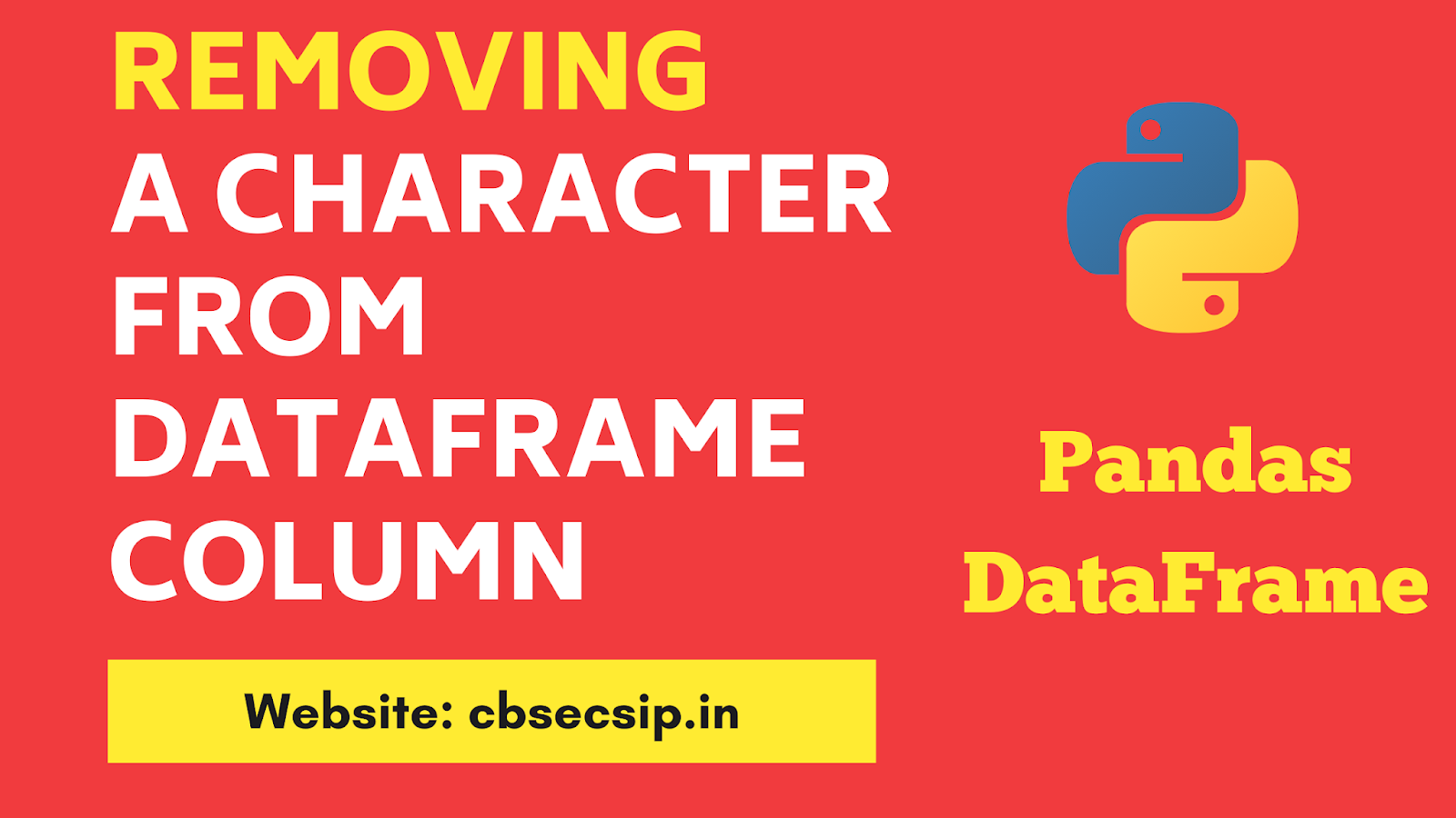 removing a character from dataframe column
