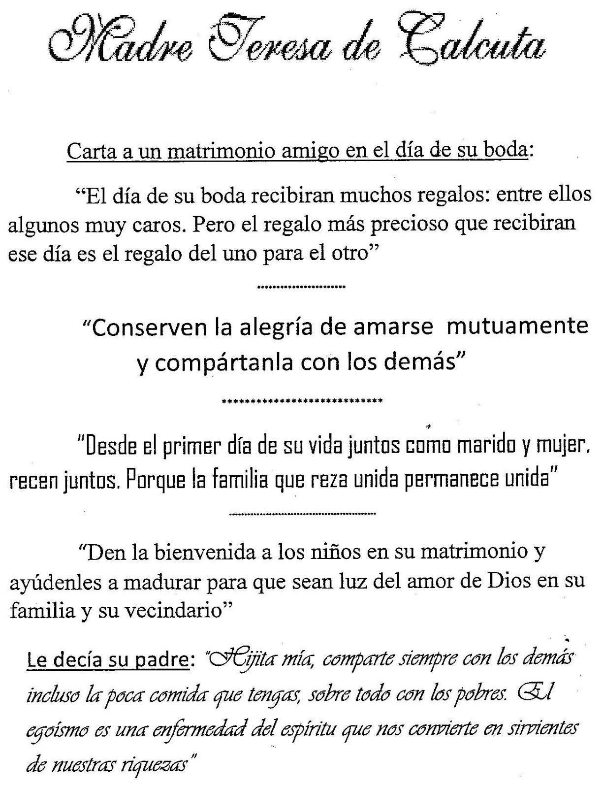Frases Madre Teresa De Calcuta Sobre La Mujer Texto Para