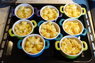 Картофель, запечённый в сметанном соусе-приготовление