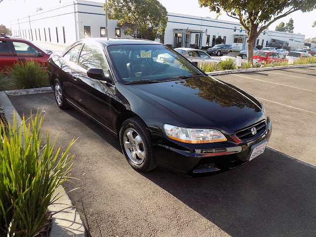 Honda Accord Coupe with peeling clear coat after repainting at Almost Everything Auto Body.